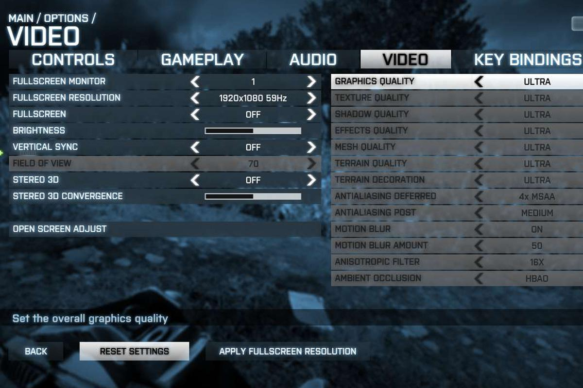 Video Options in Gaming