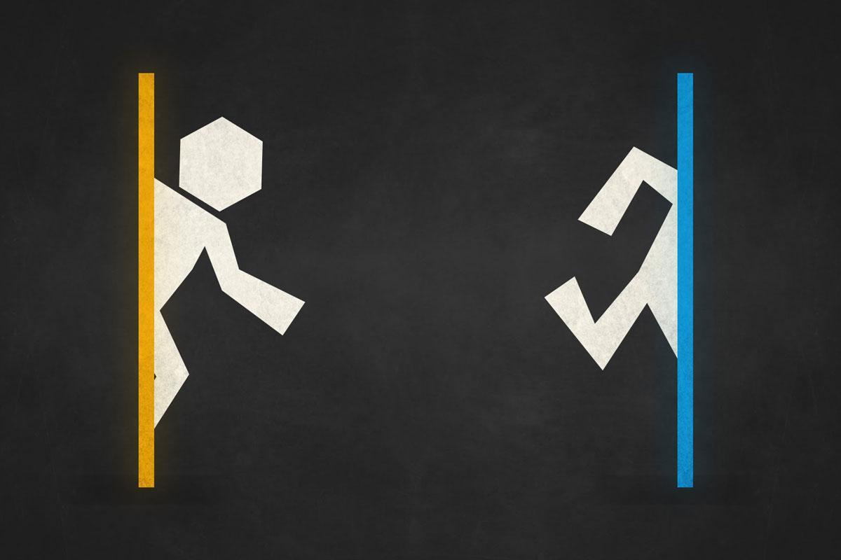 When two Portals Unite